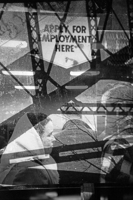 Apply For Employment, Against The Sky in Black & White Shard