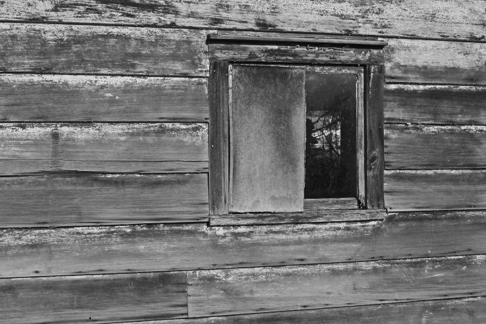 Weathered Board And Window